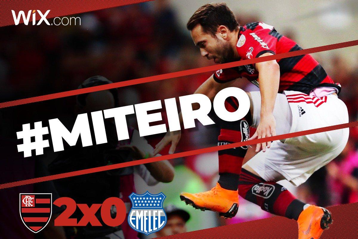FIM DE JOGO! Com dois merengaços de Everton #Miteiro, vencemos o Emelec e estamos classificados para a sequência da Conmebol Libertadores.  Vem pro Nação: https://t.co/BG6PpxkQ0p