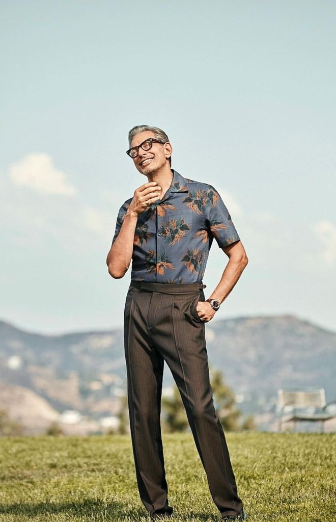 Jeff Goldblum appreciation post because he's 65 and serving LOOKS