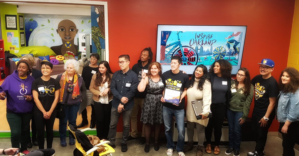 The #1 judges selection from the 16 community design finalists from the @OaklandDigital 2018 #InspireOakland program; East Oakland Scraper Bikes and East Bay Bike Party will be proud! Congratulations to all participants and Jërry at #BRIDGEGOOD #loveoakland <br>http://pic.twitter.com/XEgh0wJJCW