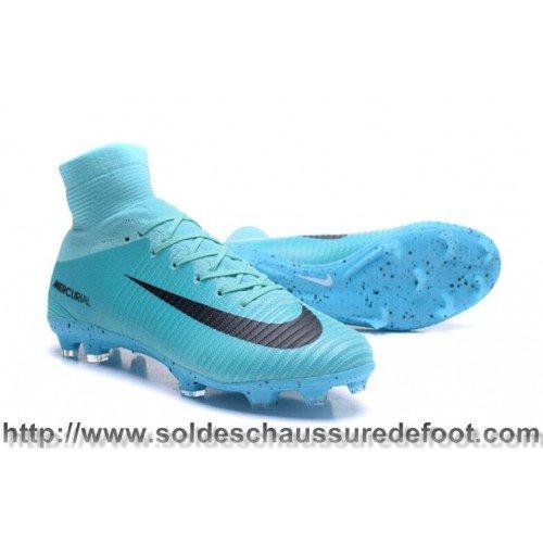 innovative design 32560 72499 Authentique Chaussures De Foot Nike Mercurial Superfly V FG - Noir Bleu  visit us http   www.soldeschaussuredefoot.com  NikeMercurialSuperflyVFG ...
