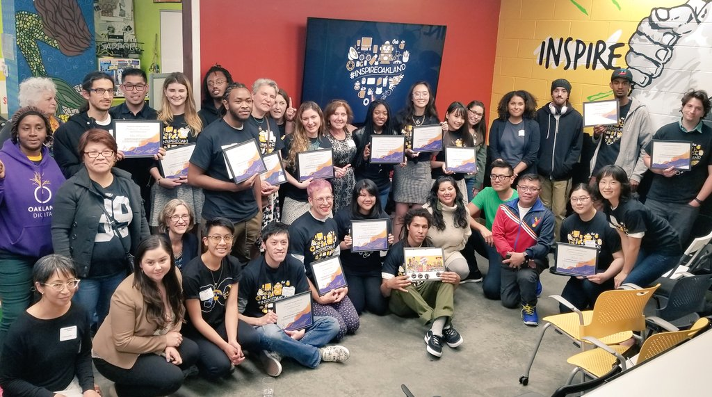 WOW. That was intense... time to let it all process! Congrats #InspireOakland Top 16 (&amp; Top 6) students, judges, and community allies! @OaklandDigital<br>http://pic.twitter.com/1vTR4AOMaN