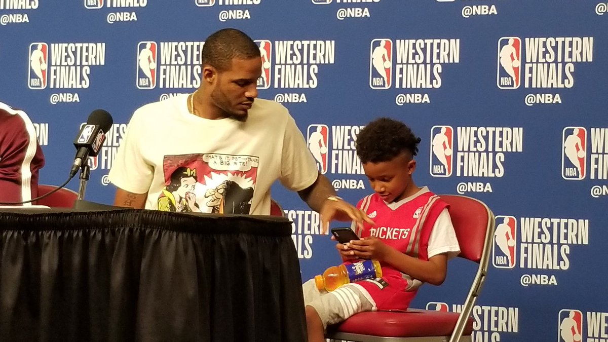 """ClutchFans on Twitter: """"Trevor Ariza's son has joined him at the ..."""