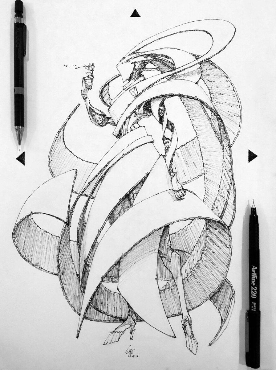 Twist  #2018136 #art #design #drawing #sketch #practice #dailysketch #dailydrawing #bw #blackandwhite #artlinepen #mechanicalpen #twist #scifi #Spiral #robot   http://www. facebook.com/wyvinz  &nbsp;    http://www. instagram.com/wyvinz  &nbsp;    https://www. twitter.com/wyvinz  &nbsp;  <br>http://pic.twitter.com/Eeu1bBBsT9