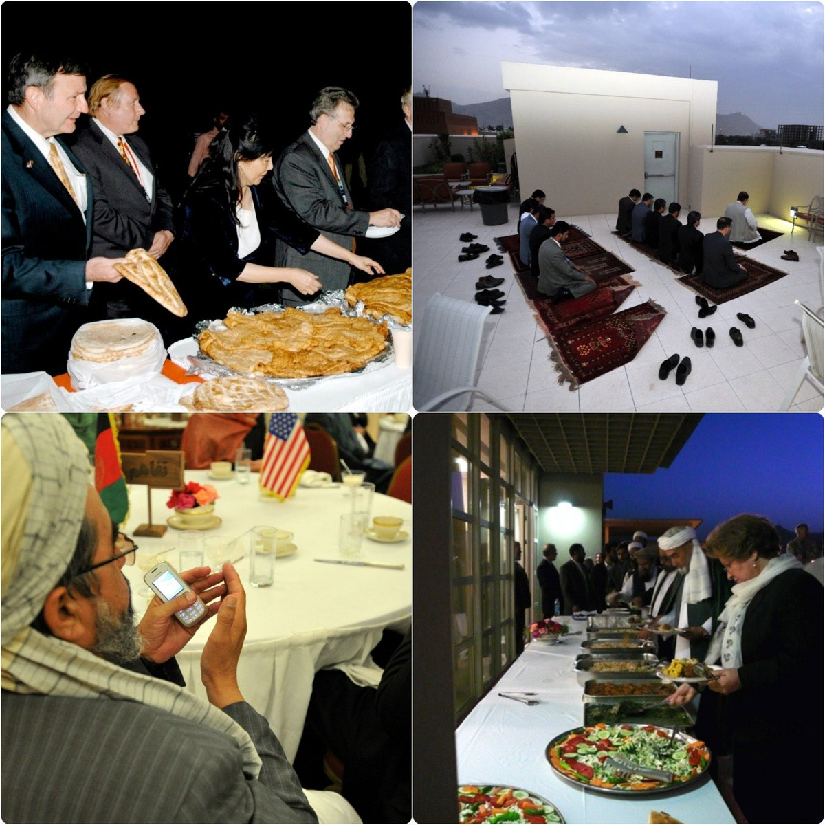 As we start the celebration of Ramadan on this #ThrowbackThursday, here's a photo from one of the early Iftars hosted by the U.S. Embassy after it re-opened.