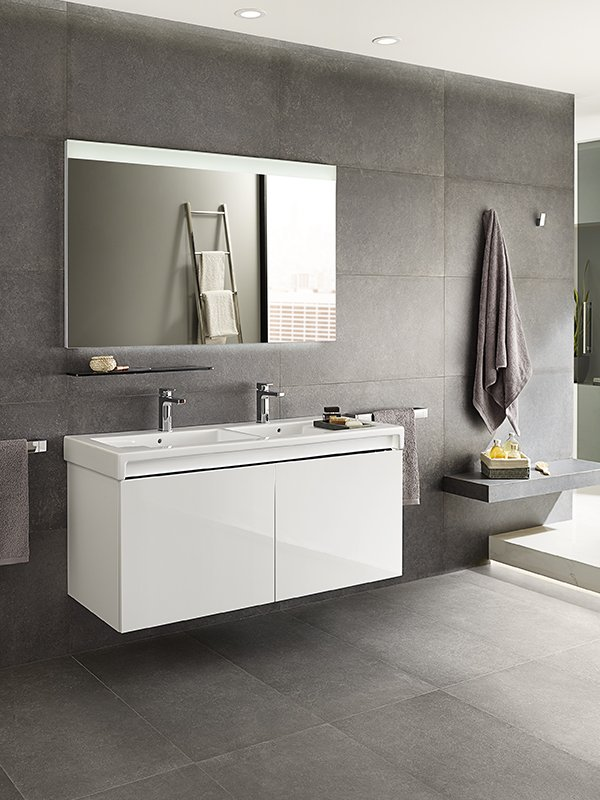 Gloss White Or Textured Yosemite Which Colour Would You Choose From Our Stratum N Bathroom Furniture Range