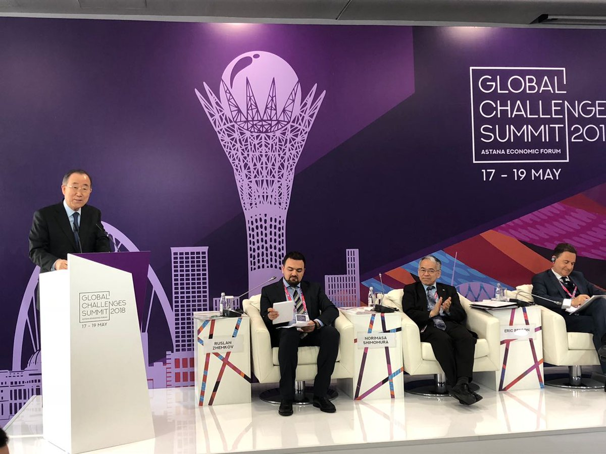 @BanKimoon_amdg @ #GlobalChallengesSummit2018: &quot;#GreenGrowth doesn&#39;t only work, it is necessary. #Developing countries can achieve #Growth while simultaneously achieving #SDGs&quot;<br>http://pic.twitter.com/vv2b2tkhSP