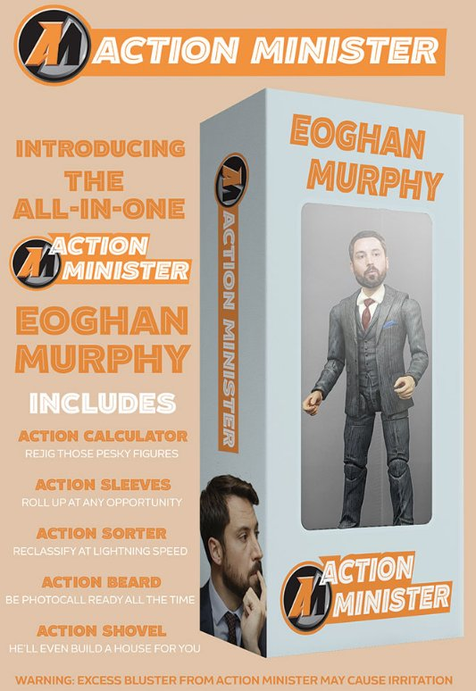 Amp up the bluster with the brand new, all-in-one Action Minister Eoghan Murphy!