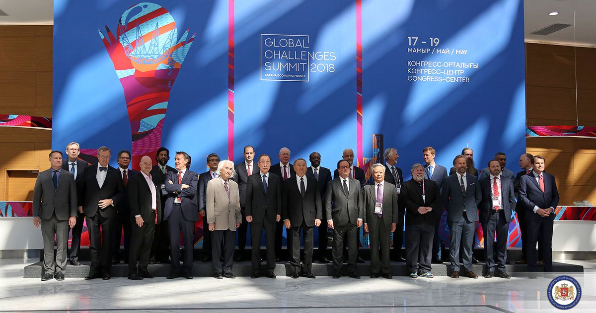 The challenges of global development, climate issues, socio-political crises and large scale global migration are on the agenda of @Forum_Astana #GlobalChallengesSummit #AEF2018 @JanelidzeMkh<br>http://pic.twitter.com/QYV1rs5XrY