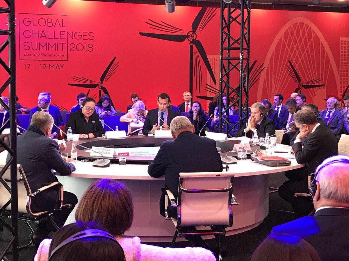 Romano Prodi, Aleksander Kwasniewski attending the session on rebuilding multilateralism in multipolar world #aef2018 #euinkz<br>http://pic.twitter.com/qtclt56dpI