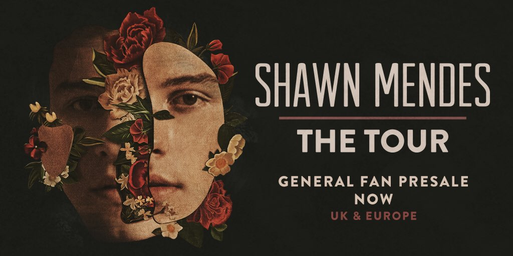UK & Europe General fan presales for #ShawnMendesTheTour are happening now x shawnmendesthetour.com