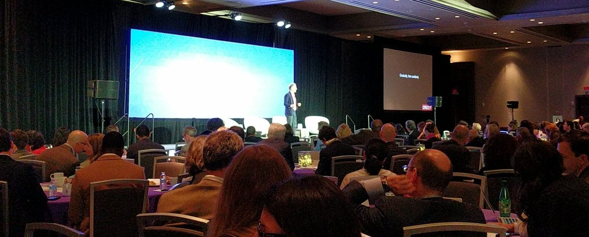 Listening to @timoreilly at the #npgol before speaking myself later today. Tim was the first person to put me on a major stage - and at a time when I was terrified of public speaking - and for that I will always be grateful. <br>http://pic.twitter.com/BXLA9NCNS6