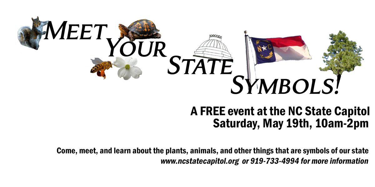 Nc State Parks On Twitter Meet Your State Symbols This Saturday At