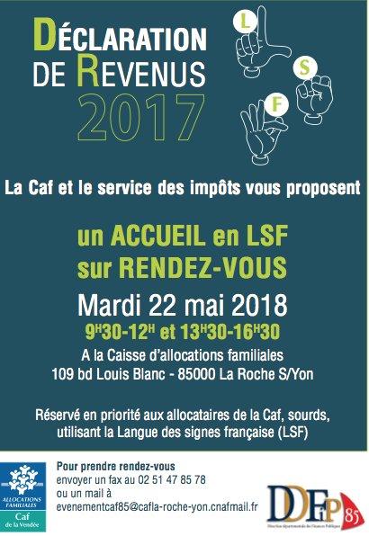 Caf Vendee On Twitter La Caf Et Le Service Des Impots Organisent
