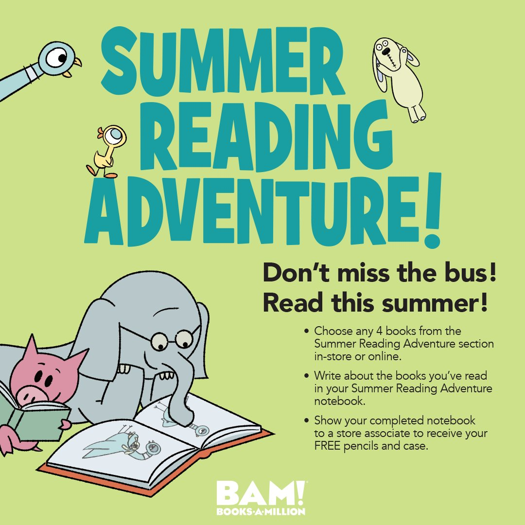 Don't miss the bus, #read this summer! Find more information on how to stay involved with our summer reading program at #BooksAMillion. bit.ly/2rKswKD