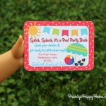 Free printable for American Girl doll Pool Party Invitations! https://t.co/QIUE10vTbB #americangirldoll #freeprintable #dollcrafts #poolparty