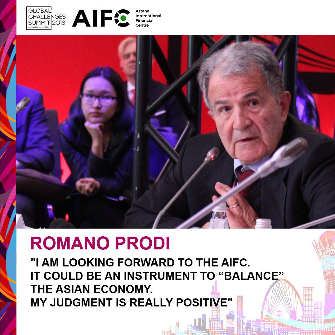 Former Prime Minister of Italy Romano Prodi about the AIFC #AstanaEconomicForum #аэф2018 #aef2018 #ForumAstana #GlobalChallengesSummit #GlobalChallengesSummit2018 #AIFC #GlobalChallenges<br>http://pic.twitter.com/p1UePvUWEt