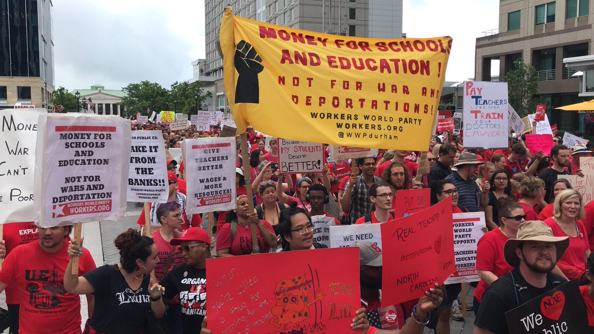 Workers World Party's photo on #Red4Ed