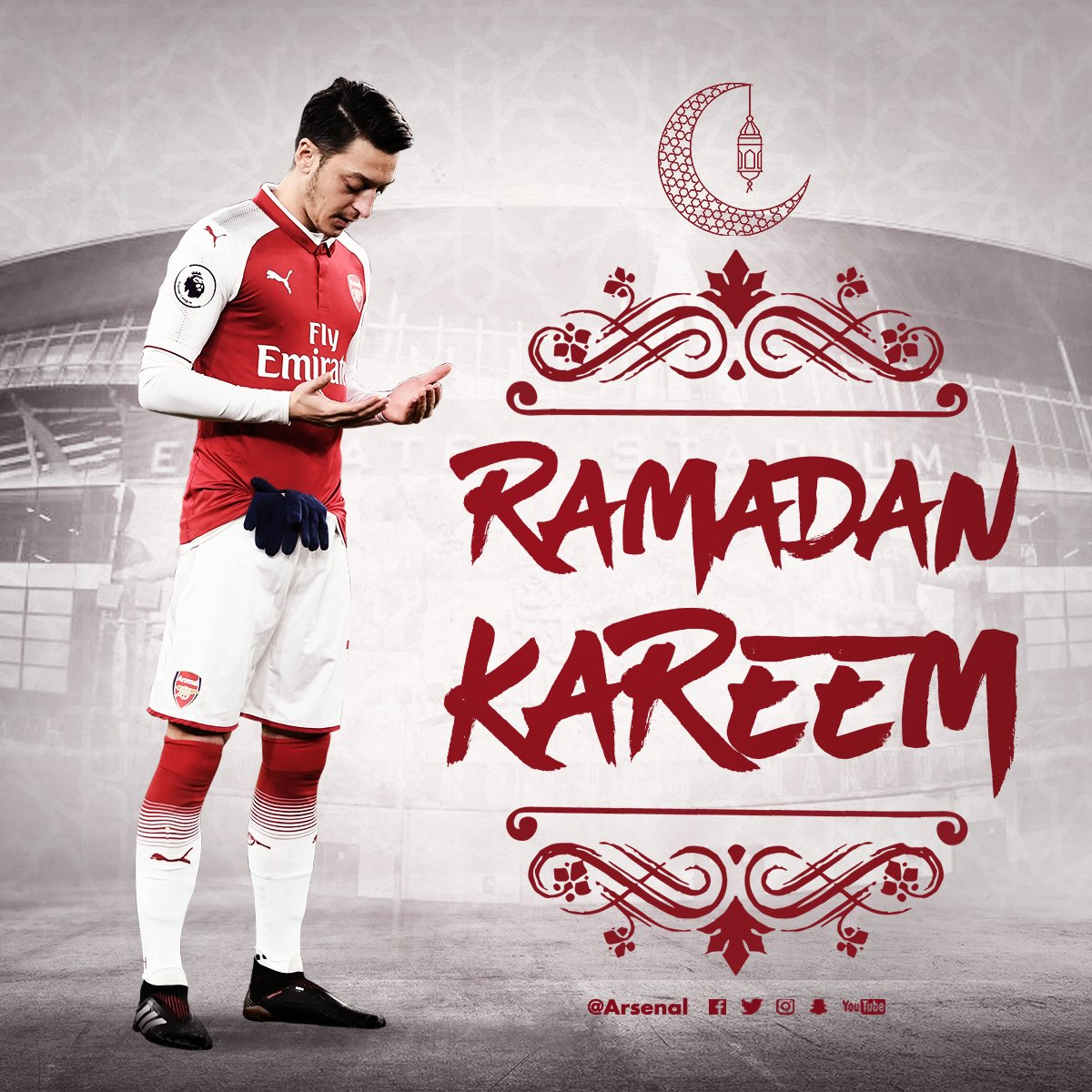 All of us here at Arsenal would like to wish a blessed #Ramadan to everyone celebrating