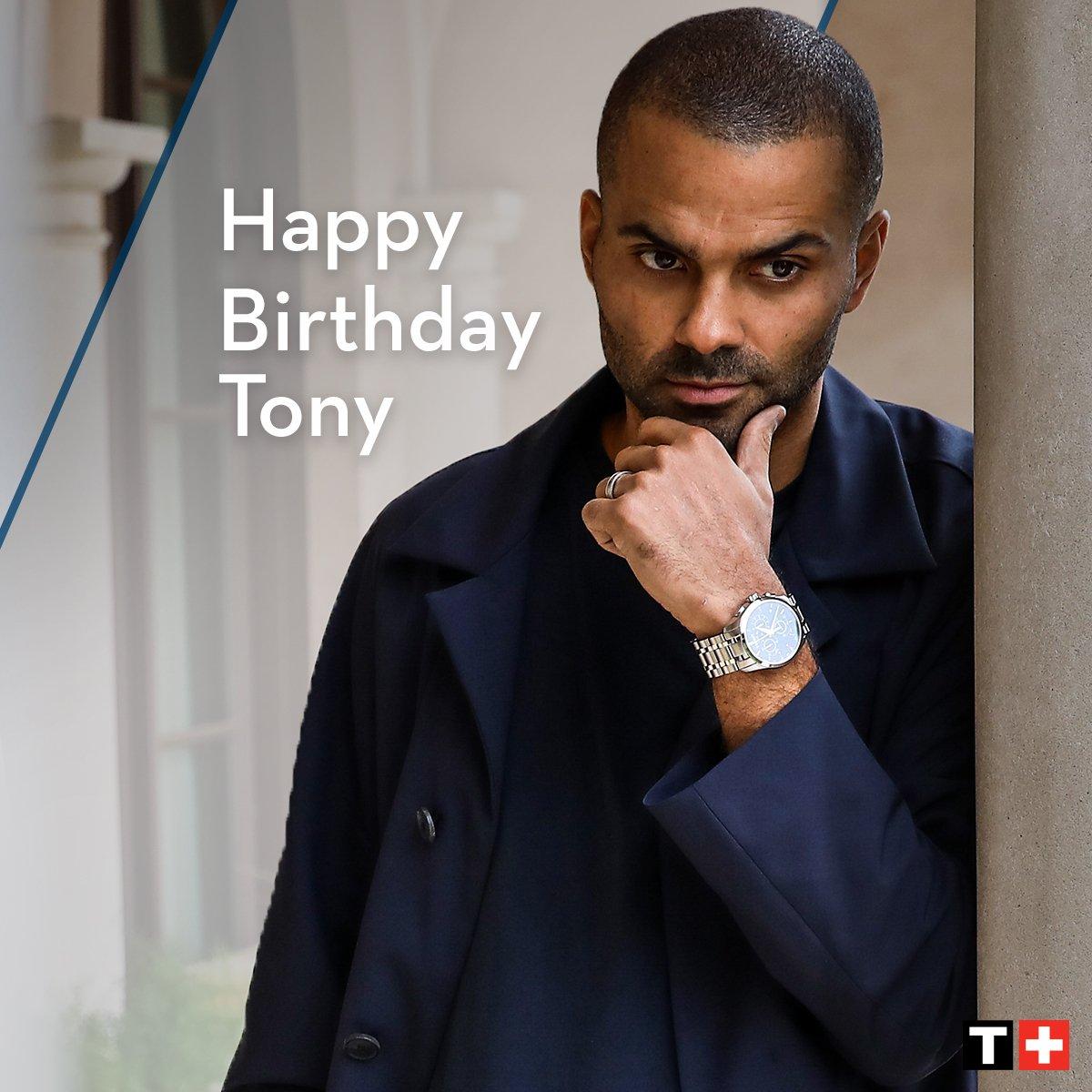 A very happy birthday #TissotAmbassador @tonyparker! #HappyBirthday #Tissot #TonyParker
