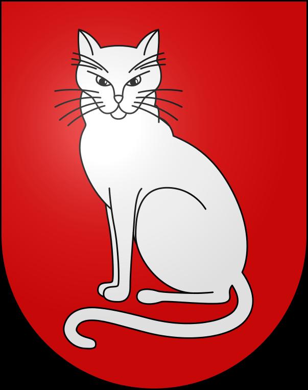 猫 画像 cat image スイスはティチーノ州の自治体、ソブリオ(Sobrio)とロヴィオ(Rovio)の紋章は猫。   0