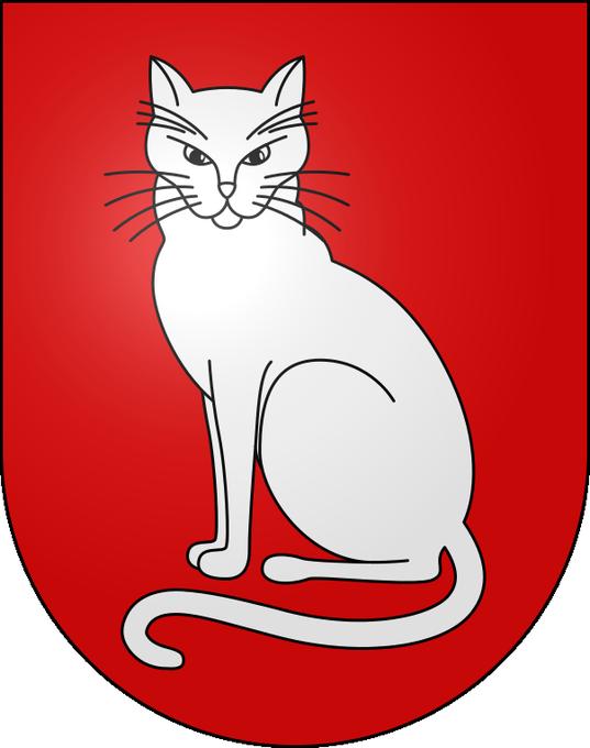 猫 画像 cat image スイスはティチーノ州の自治体、ソブリオ(Sobrio)とロヴィオ(Rovio)の紋章は猫。