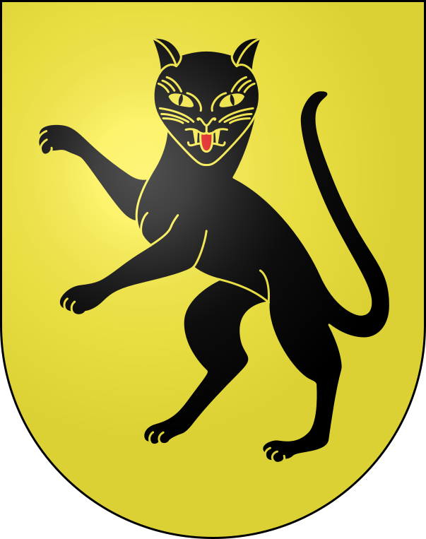 猫 画像 cat image スイスはティチーノ州の自治体、ソブリオ(Sobrio)とロヴィオ(Rovio)の紋章は猫。   1