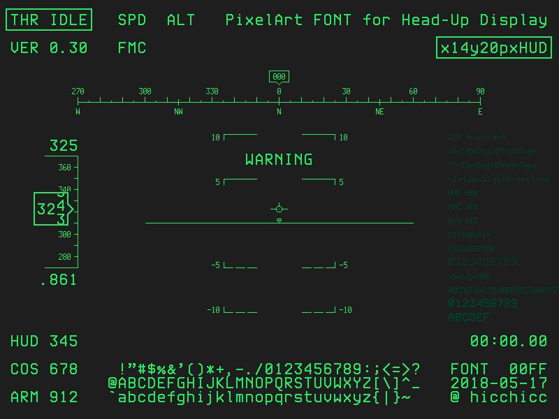 航空機HUDのかっこよさ出せるフォント欲しいから作る!