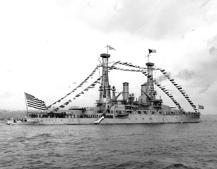 1910 : 2nd USS Michigan Commissioned