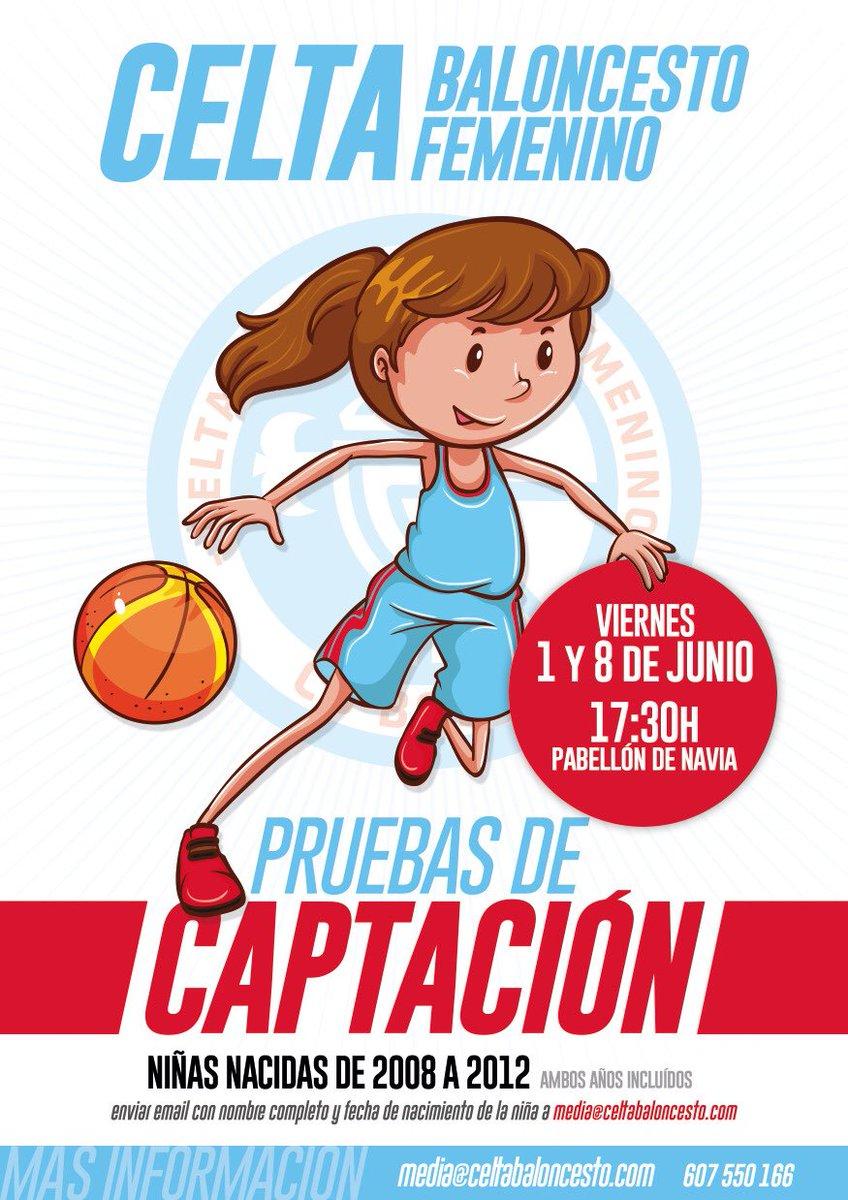 Los viernes 1 y 8 de junio tendrán lugar, a partir de las 17:30h en el Polideportivo de Navia, las pruebas de captación para la temporada 2018/19, dirigidas a niñas nacidas entre 2008 y 2012. #forxandounsoño