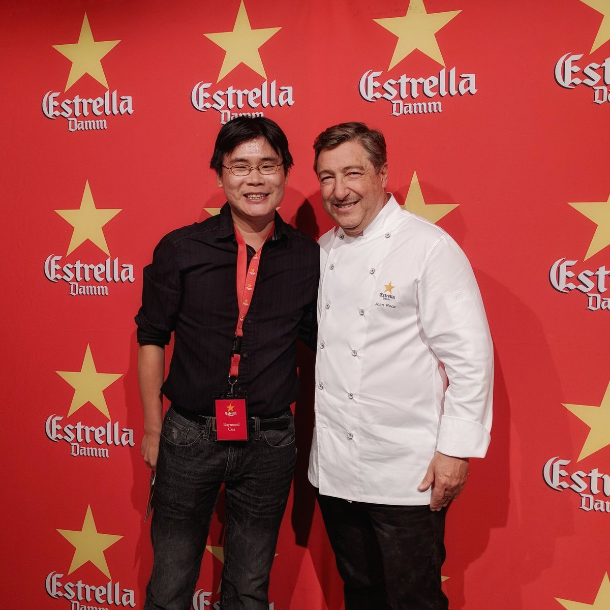 Joan Roca and Travelling Foodie at Estrella Damm Gastronomy Congress in Toronto