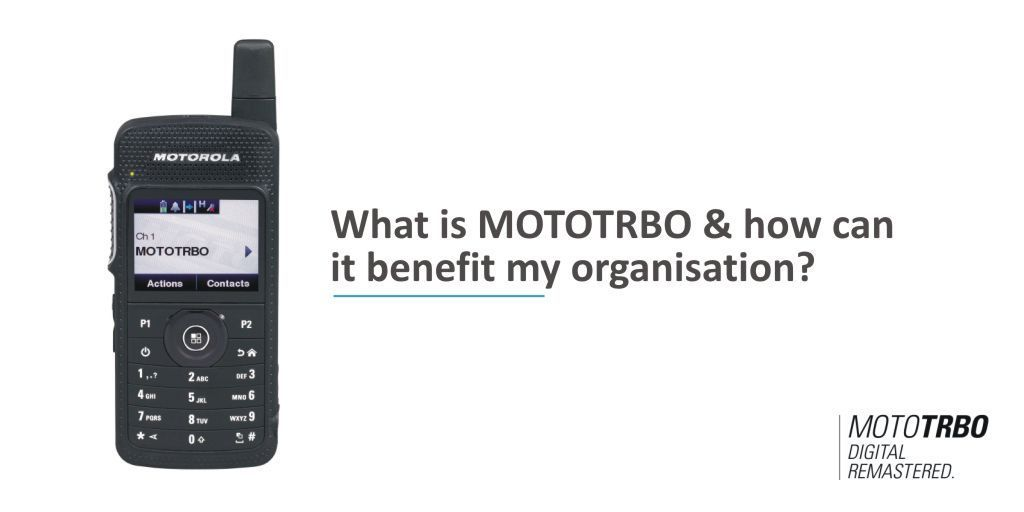 What is MOTOTRBO & how can it benefit my organisation? Find out more here https://t.co/aUhXGvpeL5  #mototrbo #voiceandata #resilientsystem #digitalradio #heretosupportyou