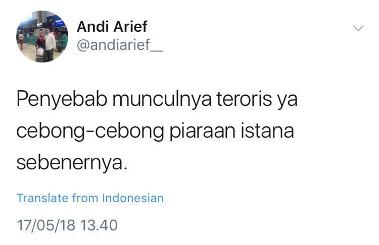 Kicauan Andi Arief
