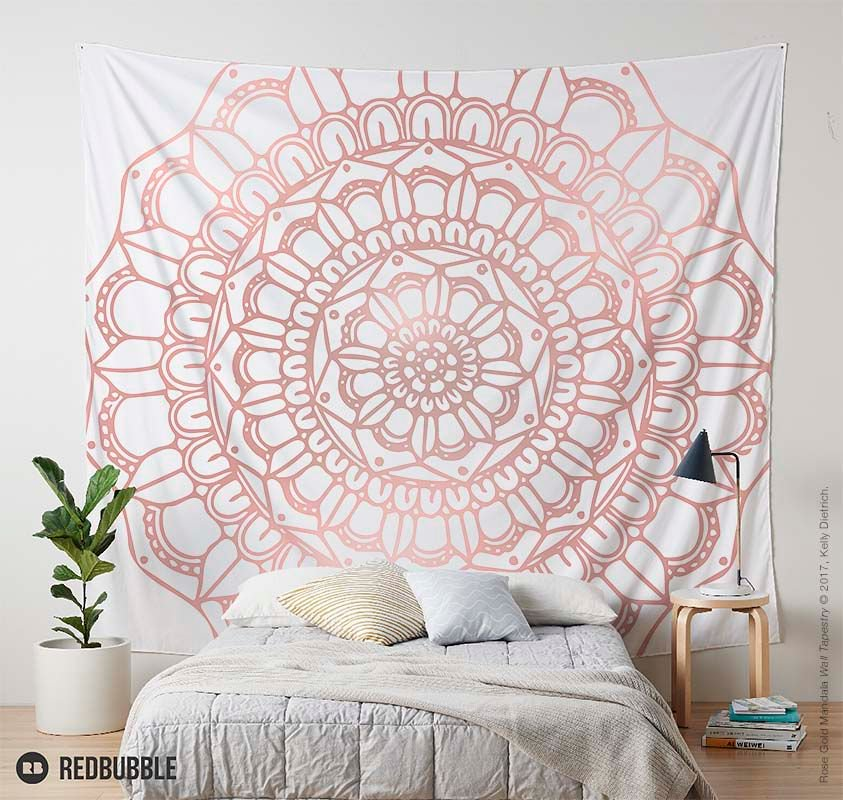 Kelly Dietrich On Twitter Rose Gold Mandala Tapestry See All My Mandalas Tco ZZlQPGwI7L Mandalaart Mandalaartist