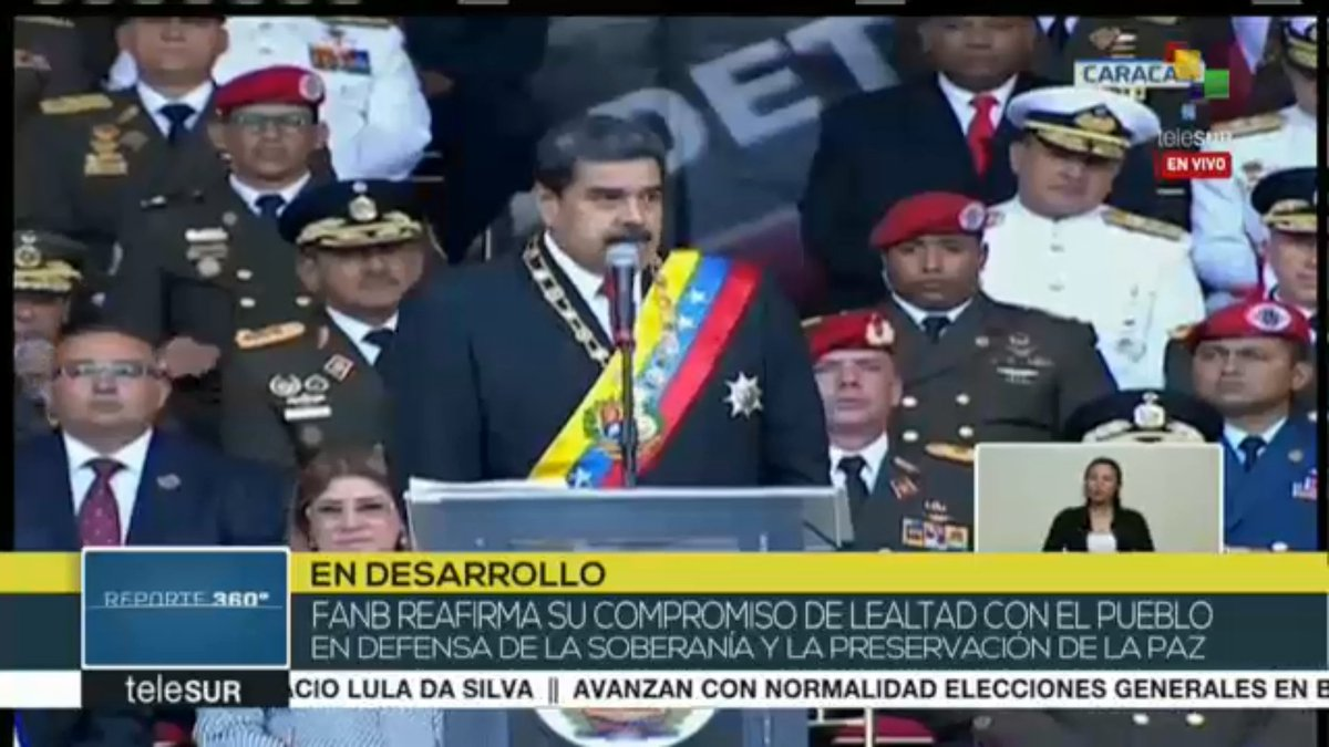 #LIVE | @NicolasMaduro 'The Bolivarian National Armed Forces are the backbone of Venezuela's stability.'
