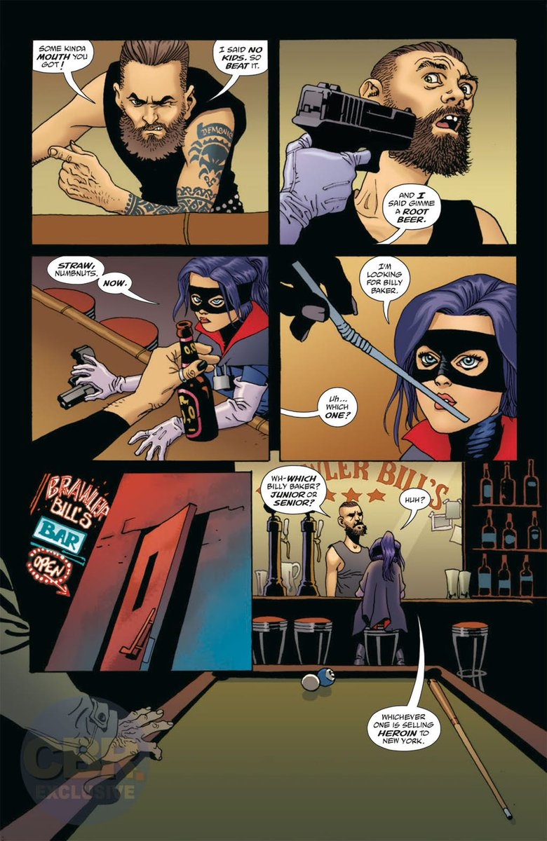 Amazing 6 pages #preview of #HitGirl#5 by @JeffLemire and #EduardoRisso!  #Mindy goes to #Canada an there won´t be snow, mountains, hunters or bear traps that will stop her for cleaning the criminals! https://t.co/hFRy8VpXm0 Out on june 20! in less than one month!