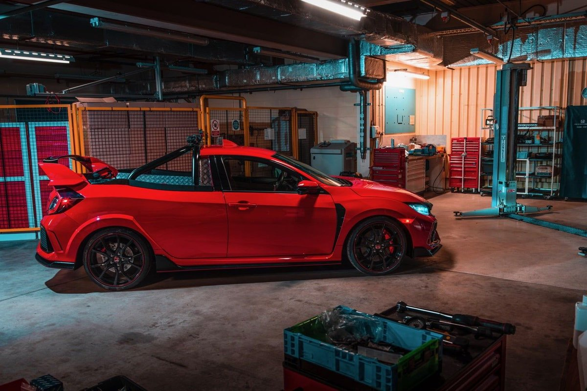 .@Honda engineers build a Civic #TypeR pickup truck, just for fun. bit.ly/2LtVC9A