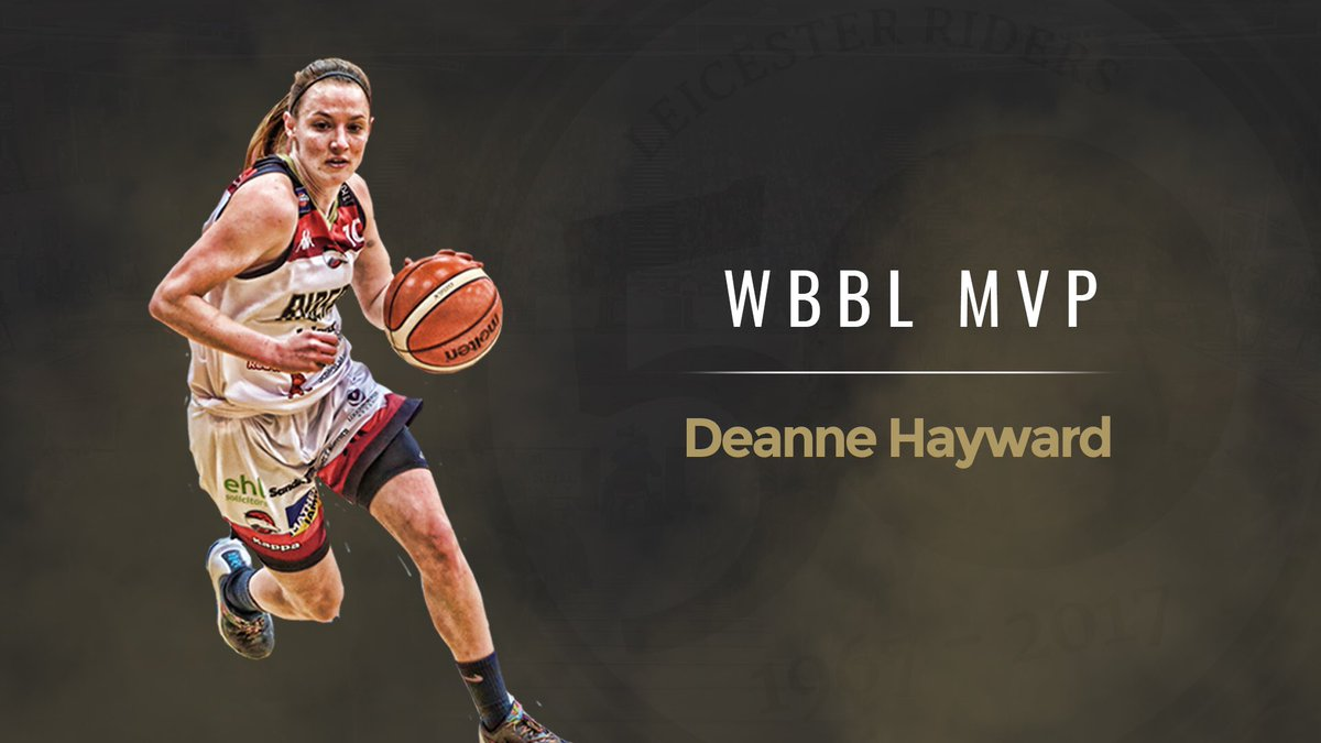 .@deehayward10 is named the team's Most Valuable Player at the Riders Pathway Awards after an excellent season in the @WBBLofficial!   #BritishBasketball<br>http://pic.twitter.com/pdeGZOWom9