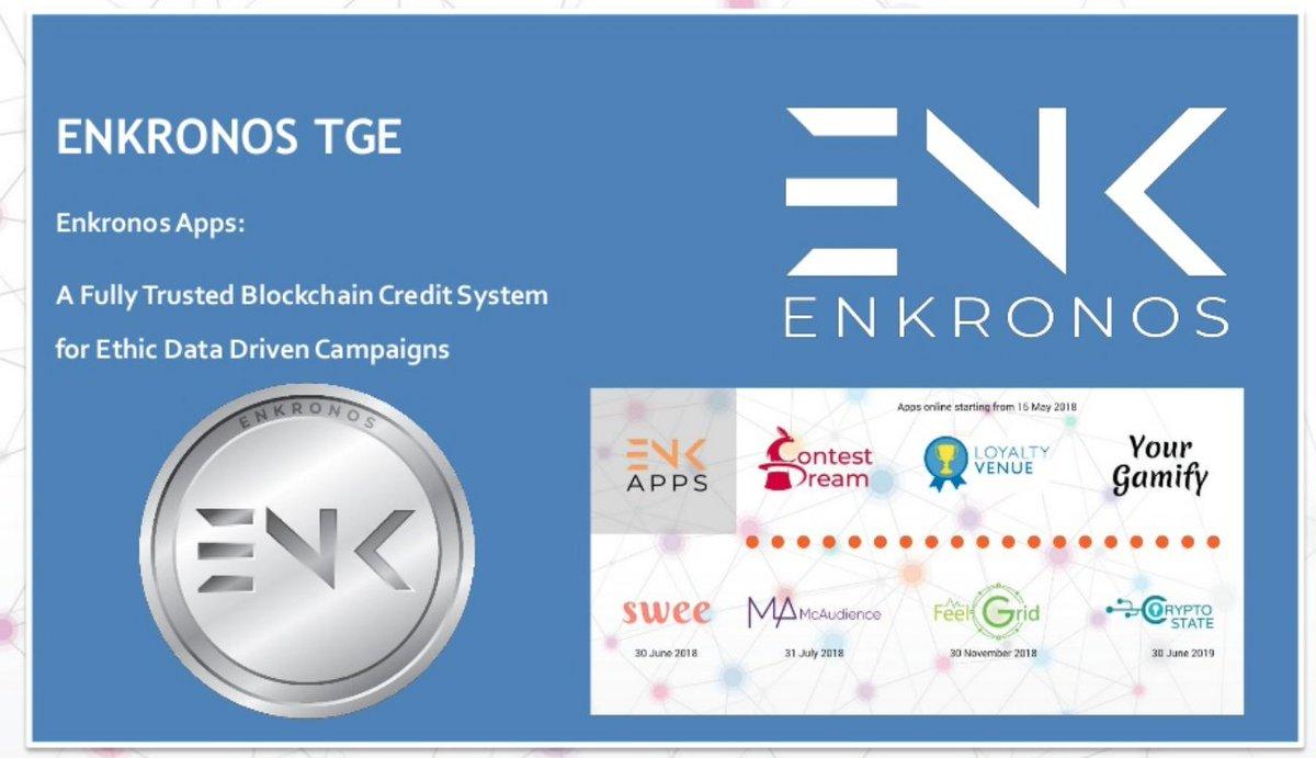 ++ Enkronos ICO. A fully trusted Blockchain credit system for ethic data driven campaigns ++   https://www. slideshare.net/Digitnut/enkro nos-ico-a-fully-trusted-blockchain-credit-system-for-ethic-data-driven-campaigns &nbsp; …   #ai #ar #IoT #blockchain #ICO #TGE #ENKronos #tokens #TokenSale<br>http://pic.twitter.com/EGKuPkBMVn