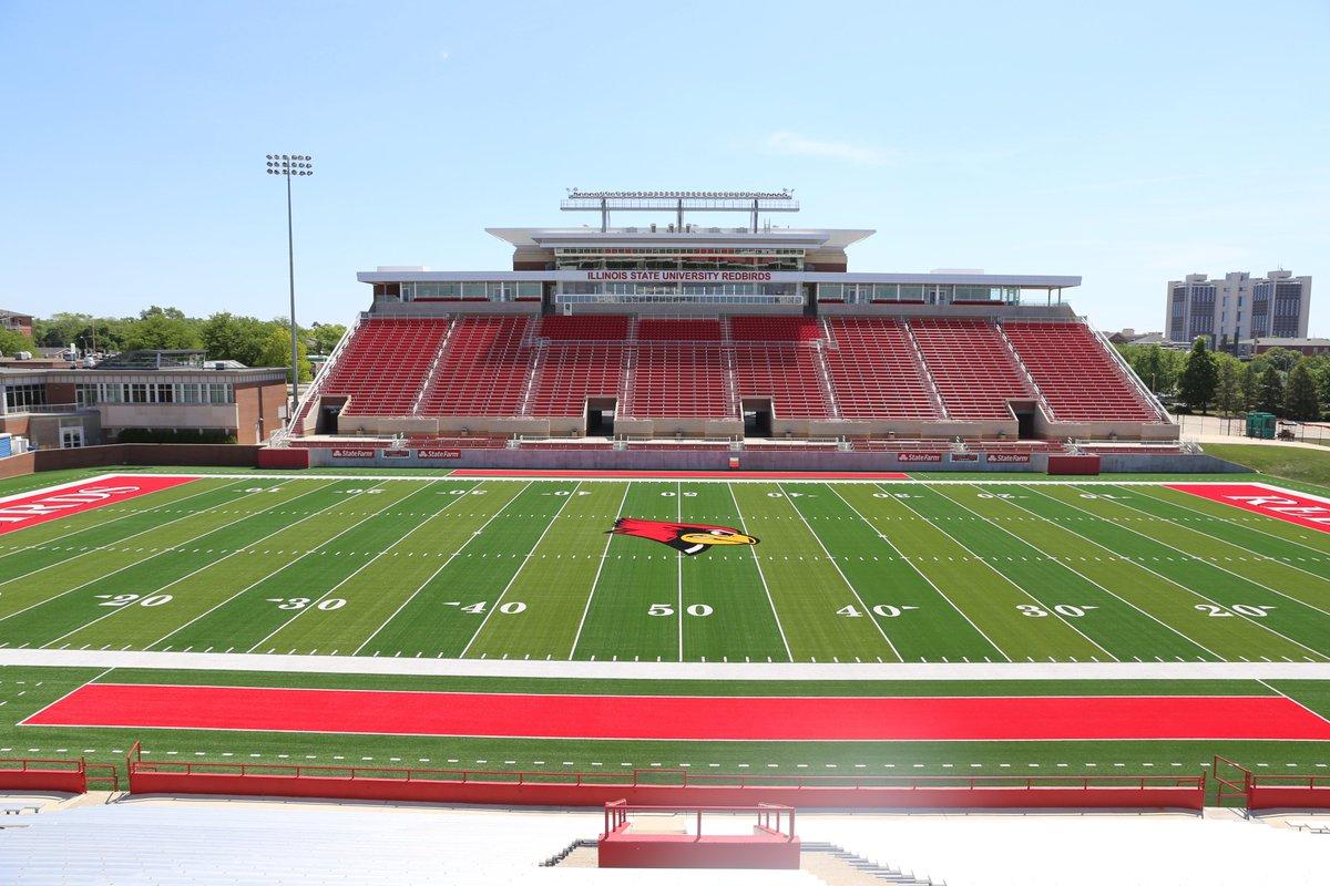 Redbird Football On Twitter Hancock Stadium Looks A Bit Different These Days At The New Turf Under Blue Skies And Plenty Of Newturfszn
