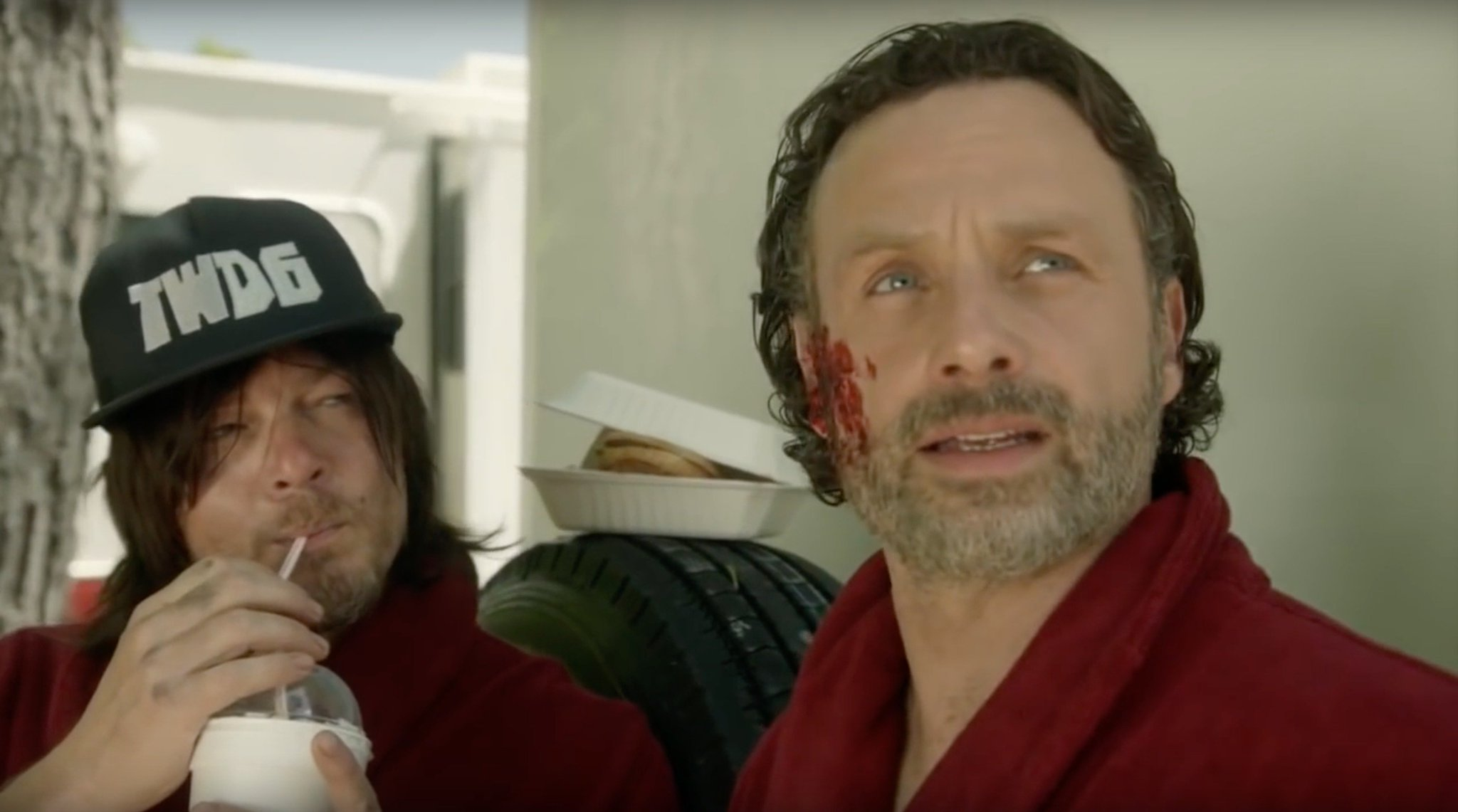 #TBT to the hilarious #WalkingDead-themed #RedNoseDay special from 2016: https://t.co/iV02wvW6r0 https://t.co/7tihpIPK5U
