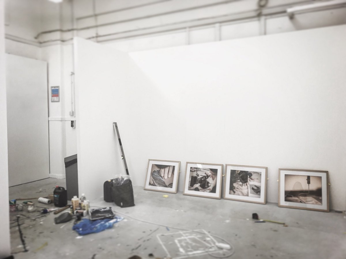 Preparing for the @CambSchoolofArt Degree Show, on 8-16th June.  Painting walls, hanging images and getting everything in place. Exhausting yet very rewarding #exhibition #photography #student #cambridge