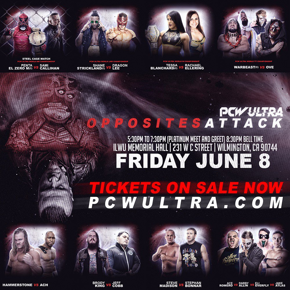 Hmmm, It seems as if we forgot to mention ONE FINAL HUGE ANNOUNCEMENT concerning Opposites Attack on June 8th. Hmmm, now what was that announcement? Does anyone have any ideas of what It could be?   Get tickets now: PCWULTRA.com