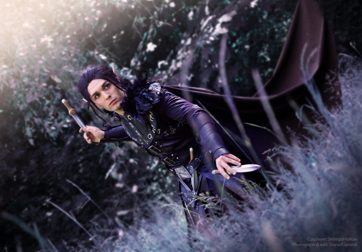 Dagger, dagger, dagger!  Vax&#39;ildan: me Photo and edit: @StarsOfGeminii  Based on the artwork by @Anodesu  #CriticalRole #CriticalRoleCosplay #isitthursdayyet #vaxildan<br>http://pic.twitter.com/pOzuzTkYMQ