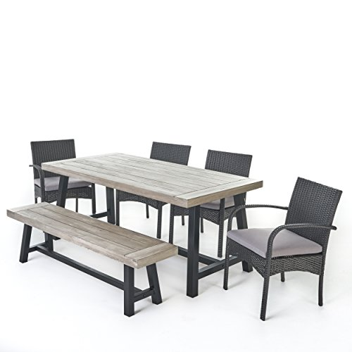 Louise Outdoor 6 Piece Grey Wicker Dining Set with Light Grey Sandblast Finish Acacia Wood Table and Bench and Grey Water Resistant Cushions  http:// good-deals-today.com/product/louise -outdoor-6-piece-grey-wicker-dining-set-with-light-grey-sandblast-finish-acacia-wood-table-and-bench-and-grey-water-resistant-cushions/?utm_source=dlvr.it&amp;utm_medium=twitter &nbsp; … <br>http://pic.twitter.com/fPjsFD7WGn
