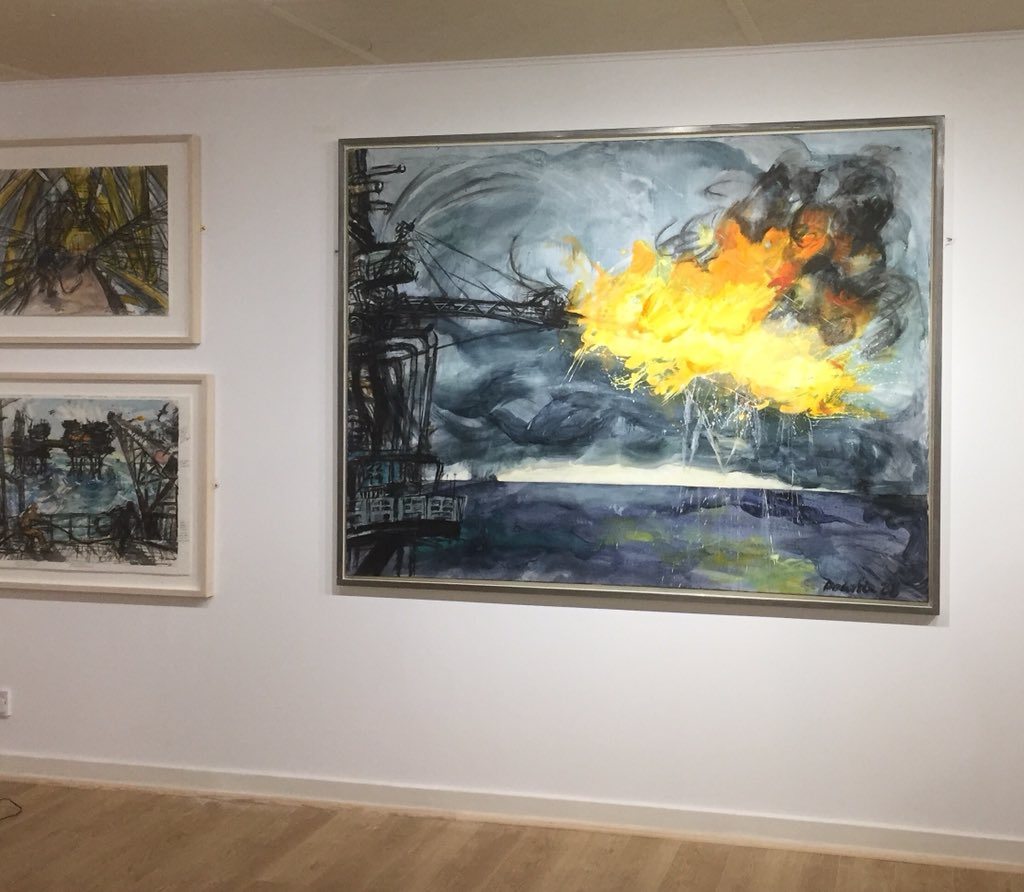 Perspectives Collecting Art Of A Seafaring Nation Opening On Friday 1st June Heres Sneaky Peek Our Oil Industry Inspired Works By Katedownie1