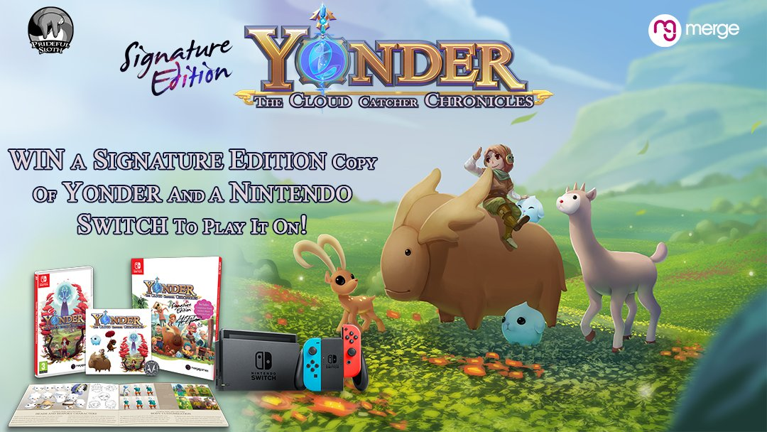 Remember (how could you forget?), We&#39;re giving away a Signature Edition copy of @YonderChronicle for #NintendoSwitch and the console to play it on! RETWEET this tweet then boost your entries with this link:  http:// bit.ly/2GOnsKc  &nbsp;   #Gaming #indiedev #Switch #Competition #giveaway<br>http://pic.twitter.com/sRtqE0Znv9