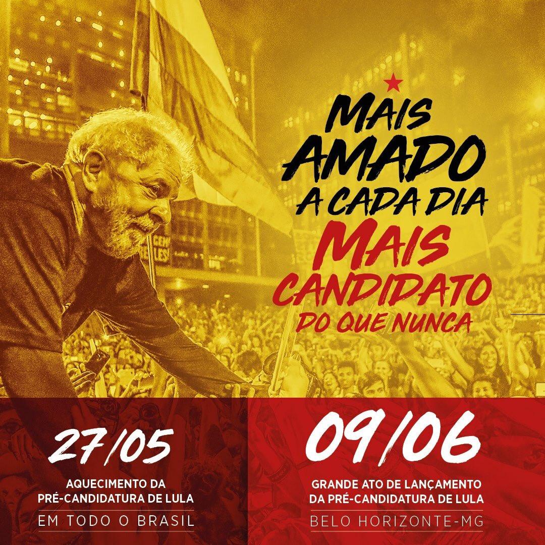Lula pelo Brasil (@LulapeloBrasil) on Twitter photo 24/05/2018 20:18:39