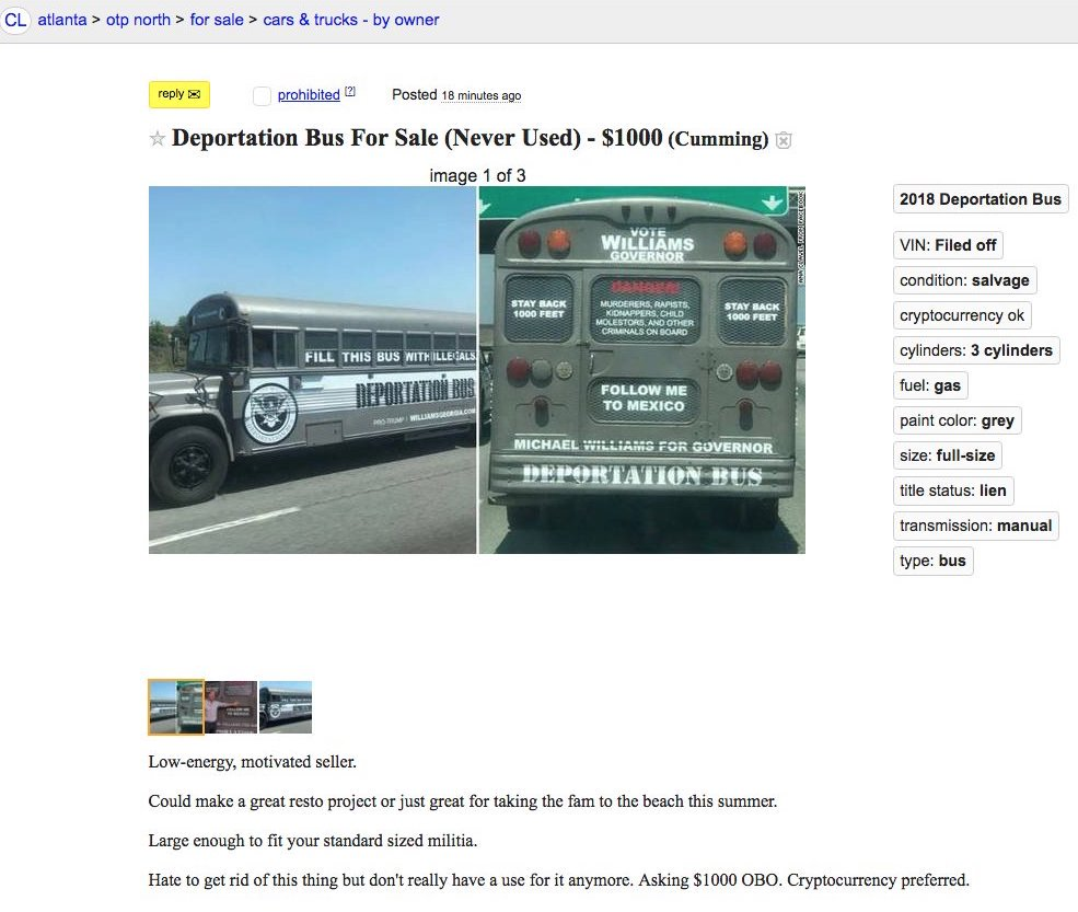 Deportation Bus On Twitter Craigslist Banned Our Latest Ad Please