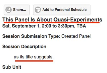 Some section head got tired of writing @APSAtweets panel names.