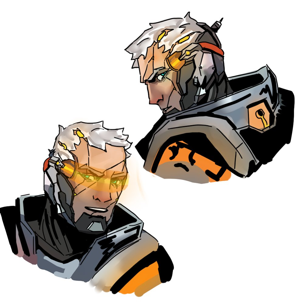 I&#39;m having fun sketching a different design of Cyborg 76. #overwatch<br>http://pic.twitter.com/0Sk50jDyXG